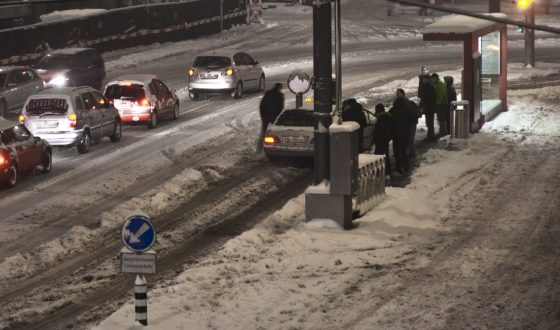 Bahnhofplatz Bern Schnee Chaos